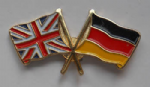 Great Britain and Germany Friendship Flag Pin Badge